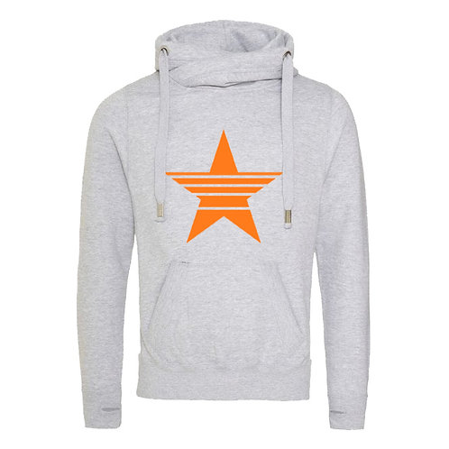 (LIMITED STOCK) Strikethrough Star Cowl Neck Hoodie
