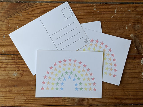 Star Rainbow postcards