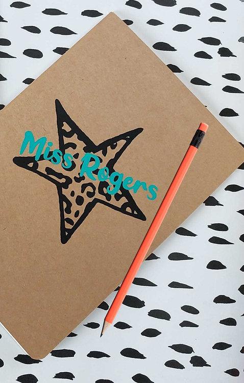 Personalised Notebook Journal & Pencil Set