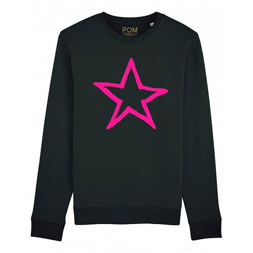 Star Sweatshirt Black