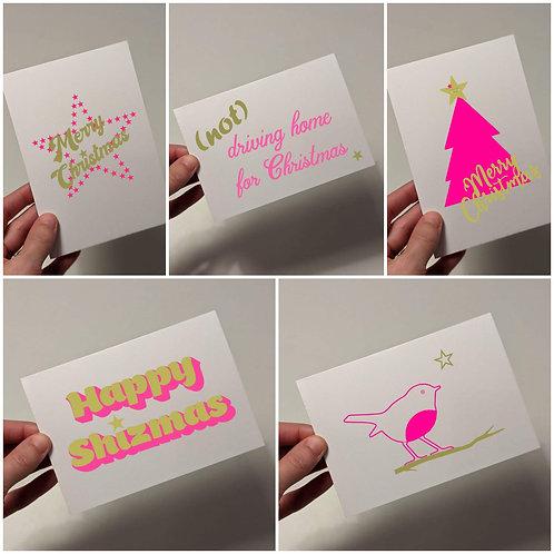 2020 Christmas Card Bundle x5