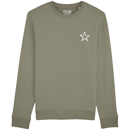 Star Sweatshirt Khaki (small left chest)