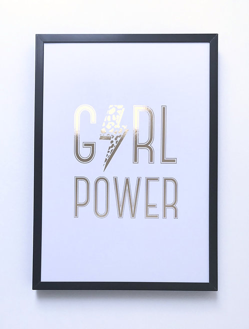 'Girl Power' Foiled Wall Print (unframed)