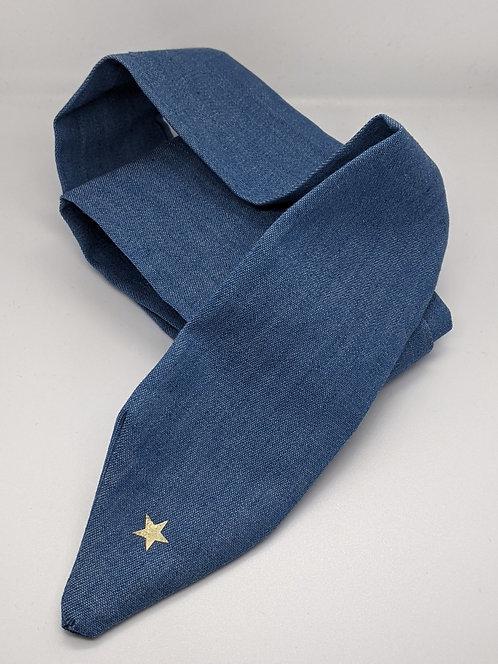 Denim Tie Headband