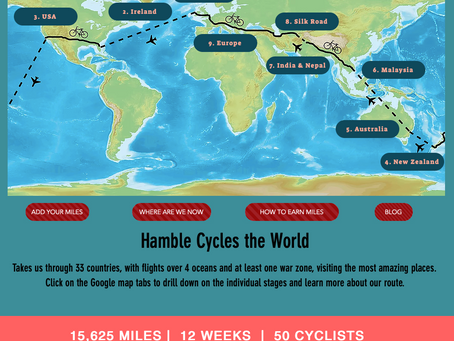 Hamble Cycles the World