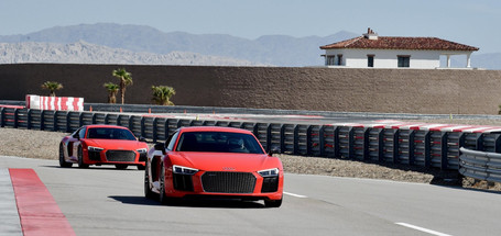 Lea Lead Driver Audi R8s at Thermal