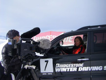 Lea in Fastest Ride on Ice Video Series