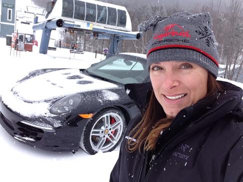 Lea with Porsche Winter Drive at Sugarbush Ski Resort