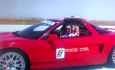 Lea with PPG Pace Car Team NSX