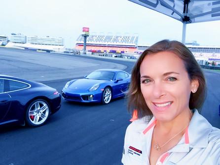 Lea with Porsche World Roadshow