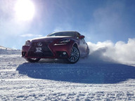 Lea with Bridgestone Winter Driving School