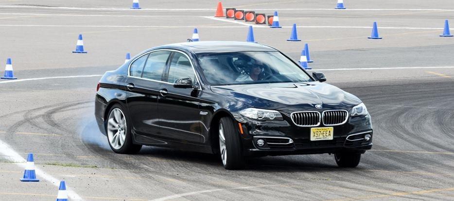 Lea drifting a Diesel BMW