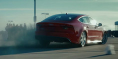 Lea in Audi RS7 Commercial