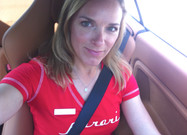 Lea with Ferrari Palm Beach Event