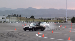 Lea Drifts BMW for Denver Charity Event