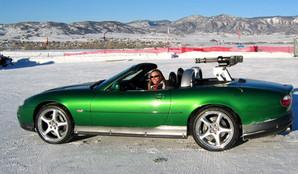 Lea in James Bond Stunt Car