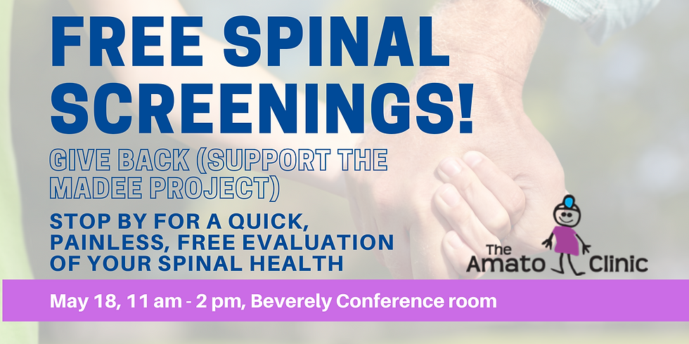 FREE Spinal Screening with the Amato Clinic