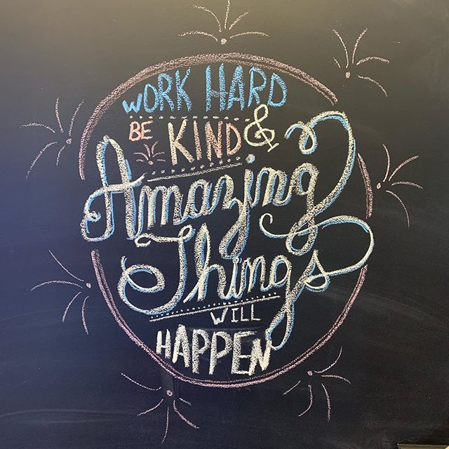 A little chalk inspiration for you this