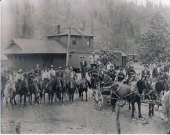 1910 De Borgia Baseball Team at Saltese MT Depot.jpg