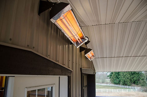 Mounted Infrared heaters