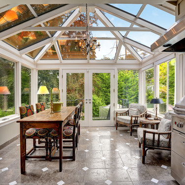 Luxury Sunroom with Grill