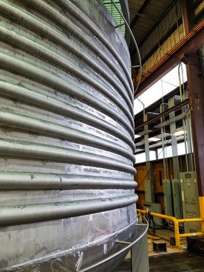 Half pipe coil tanks