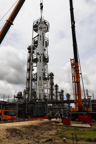 Chemical Plant Process Column