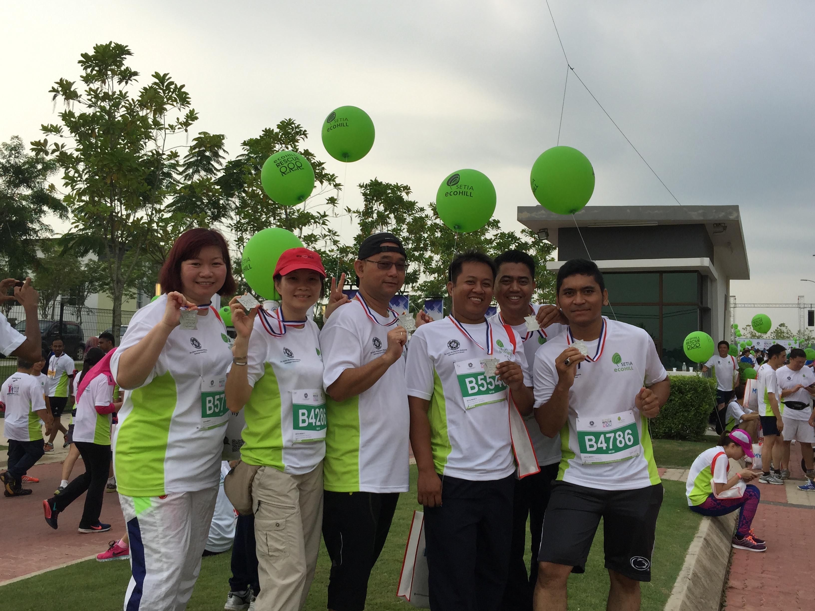 Charity rescue run at Setia EcoHill