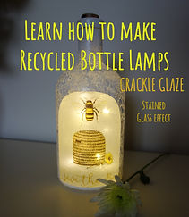 learn how to make recycled bottle lamps