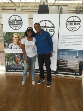 Founder Tiffany Ford and Dwight Drummond - BAR Basketball Tournament