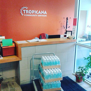 Tropicana Community Centre receiving donations from BAR