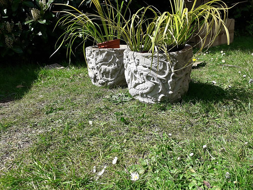 SALE- Garden stone pots-pair