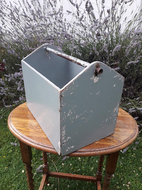 Old painted wooden tool box - FREE delivery