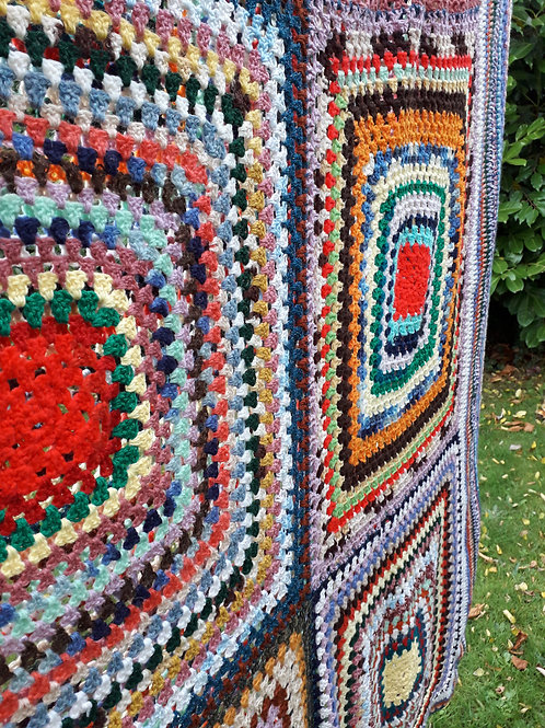 Large Vintage crocheted blanket