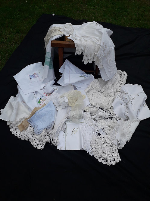 SALE -Lace & linens - collection TWO