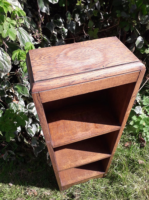 OAK wooden slim book shelf