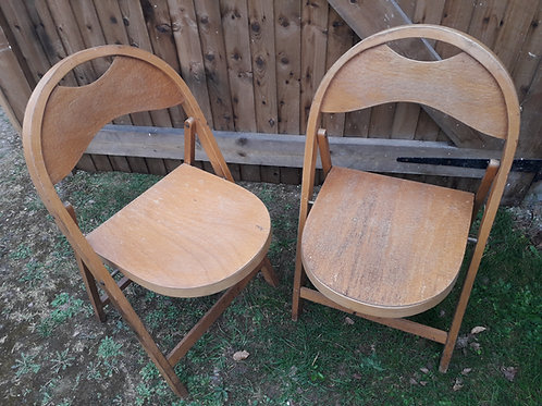 Bentwood CROCO folding chairs x3