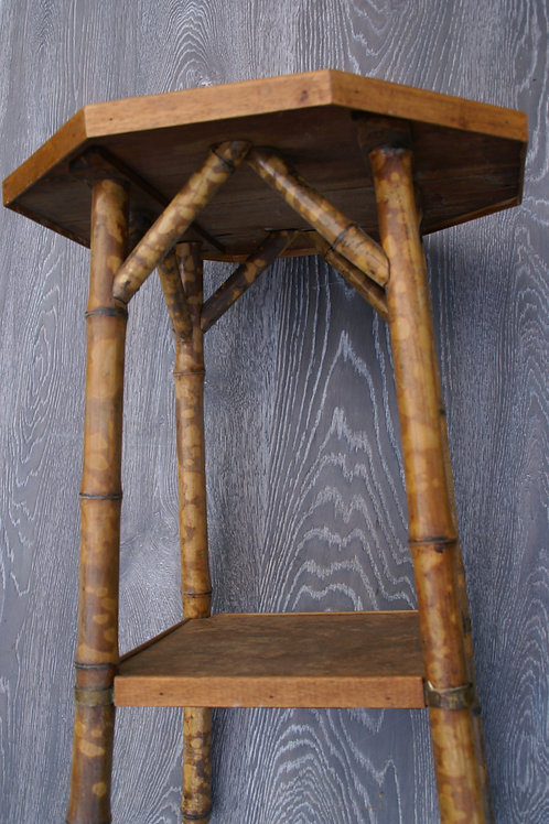 SALE- bamboo octagonal side table