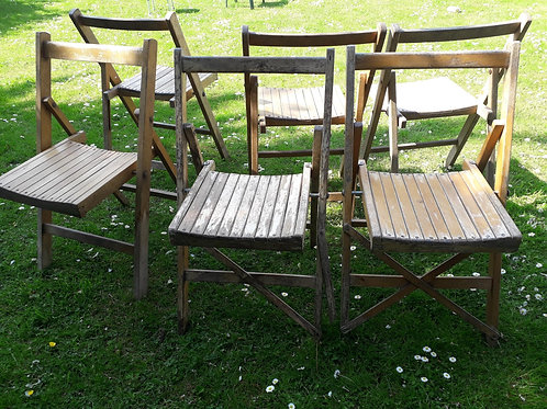 SOLD - Campaign chairs  - 1950's