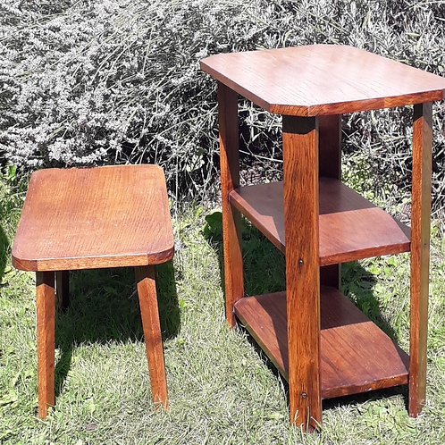 SALE - Arts & crafts style- table TRIO