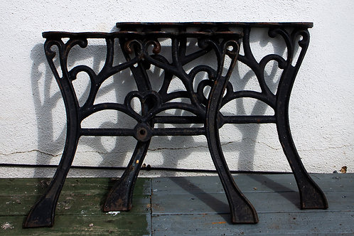 SOLD - Iron bench Ends