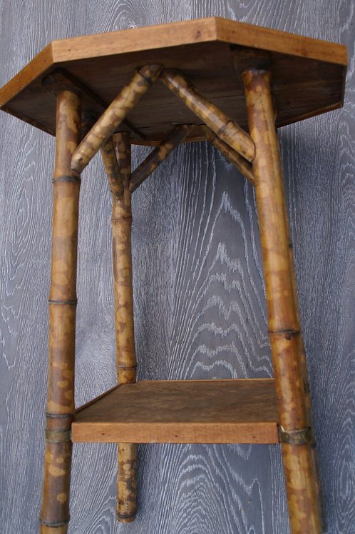 bamboo octagonal side table