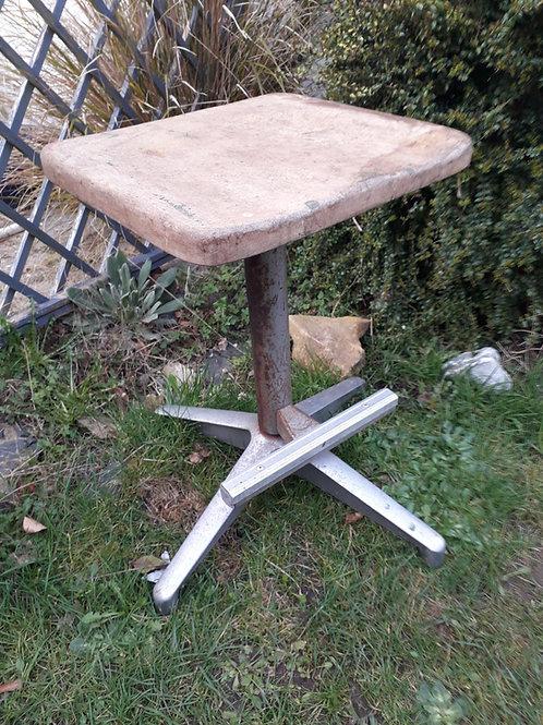 A DU-AL of Harrow  vintage swivel stool with foot bar.