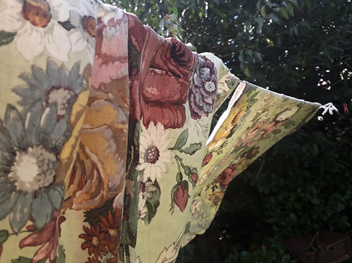 """SOLD -Vintage Sanderson """"Molesey"""" curtains"""