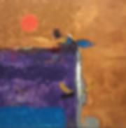 Beach of fish  40x40 Acrylic on canvas.P