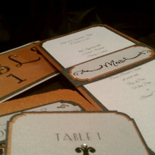 Menu, Table Numbers, and Place Cards