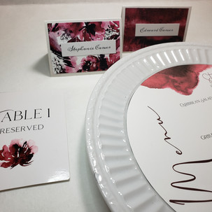 Name Cards, Table Numbers, and Menu