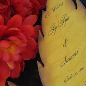 Wedding Leaf Program