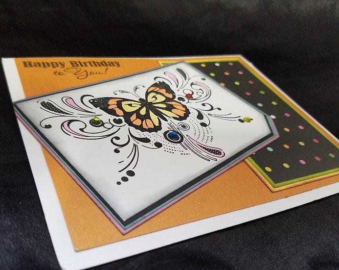 Swirly Butterfly Birthday