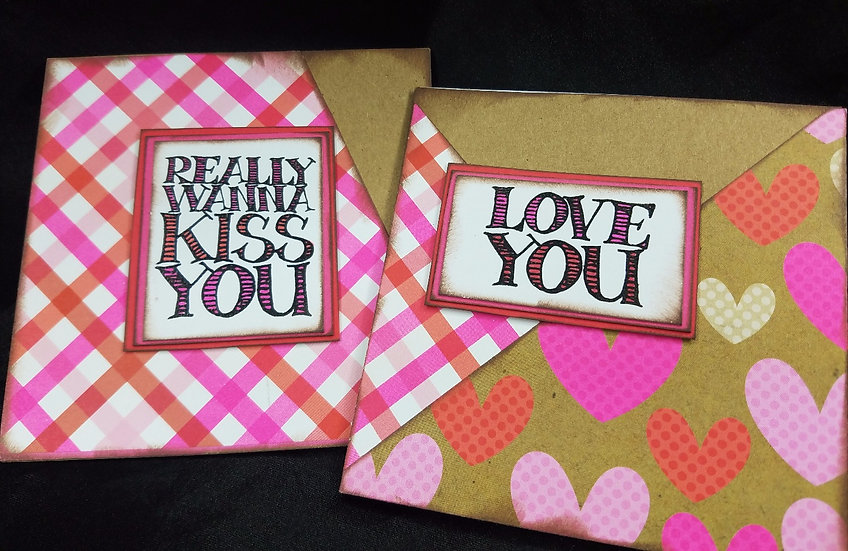 Really Wanna Kiss You / Love You - MINI Cards